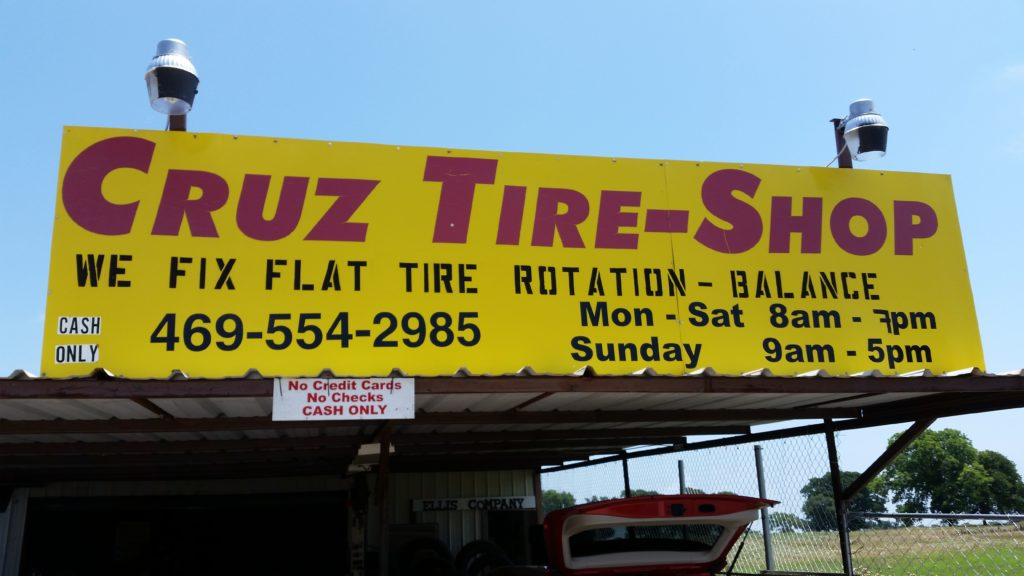 Tire Shops Open On Sunday >> Cruz Tire Shop In Aubrey Tx